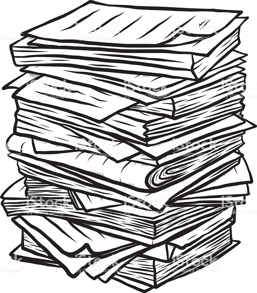 Paper pile clipart black and white library Paper clipart paper pile - 124 transparent clip arts, images ... black and white library