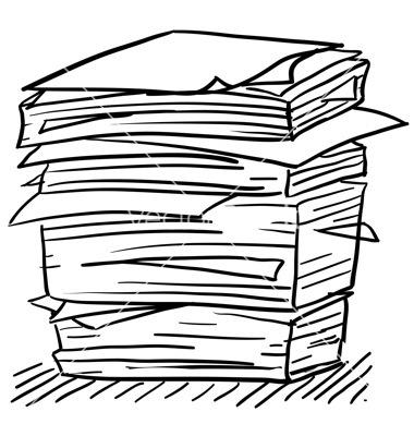 Paper pile clipart vector Paper Work Clipart | Free download best Paper Work Clipart ... vector