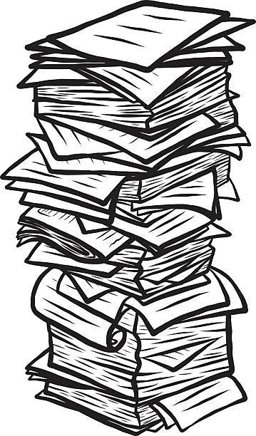 Paper pile clipart picture freeuse download Paper pile clipart 4 » Clipart Portal picture freeuse download