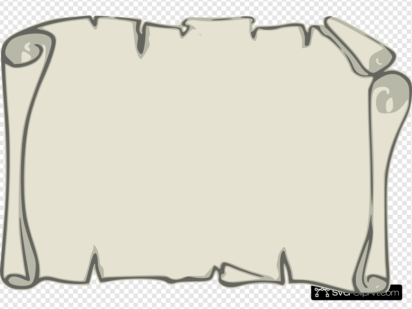 Paper scroll clipart picture free Leather Paper Scroll Clip art, Icon and SVG - SVG Clipart picture free