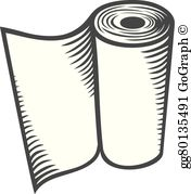 Paper towel clipart clip library stock Paper Towels Clip Art - Royalty Free - GoGraph clip library stock