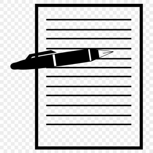 Paper transparent clipart graphic download Pen And Paper Clipart – Record Sheet Clipart – Free Transparent Png ... graphic download