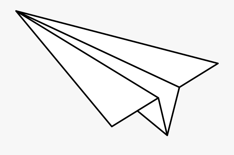 White paper clipart graphic freeuse Airplane Clipart White Paper - Drawing A Paper Airplane ... graphic freeuse