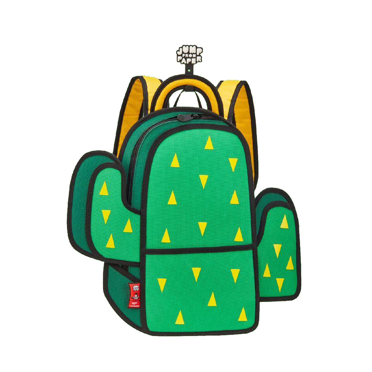 Papers flying out of a backpack clipart image black and white stock Jump from Paper Pop Art Backpack - Cactus image black and white stock