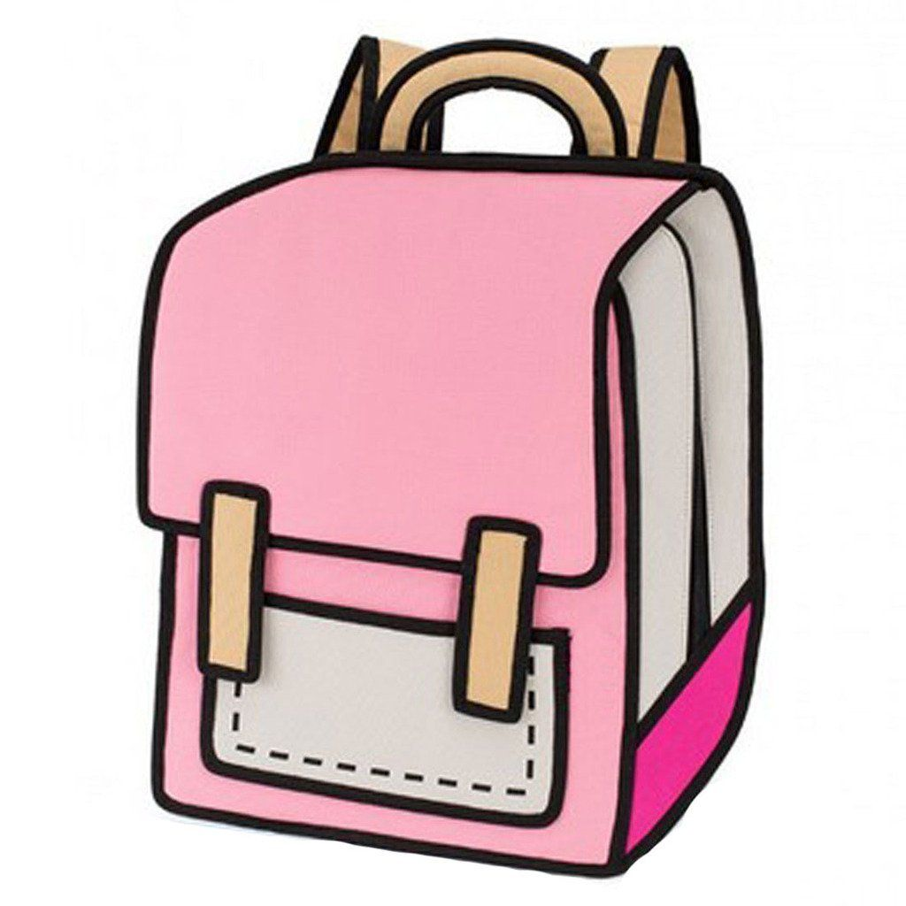 Papers flying out of a backpack clipart download 16 Sammua 3D Jump Style 2D Drawing From Cartoon Paper Comic ... download