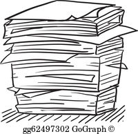 Paperwork clipart svg library stock Paperwork Clip Art - Royalty Free - GoGraph svg library stock