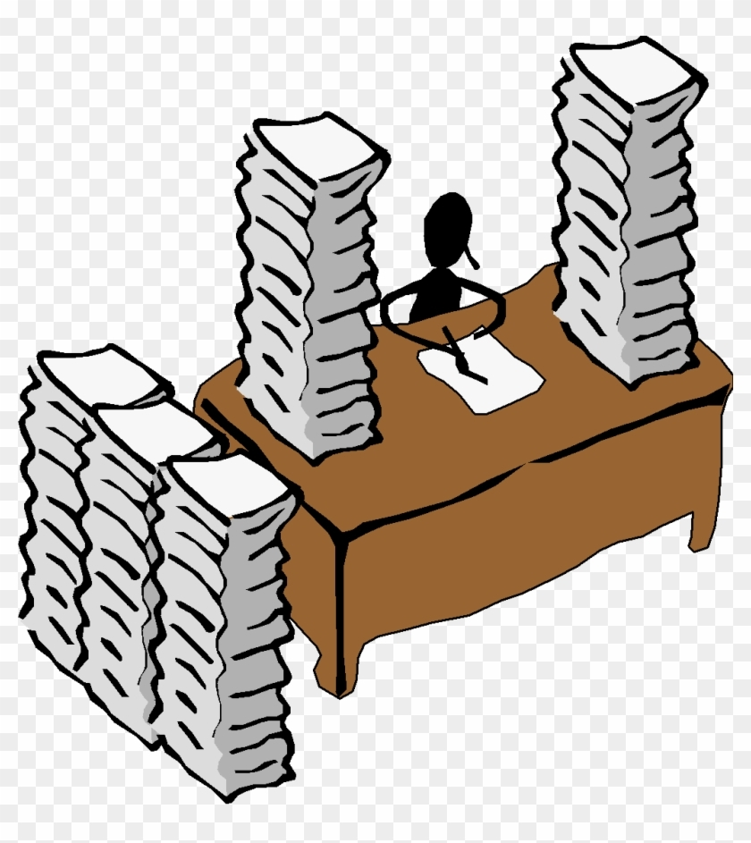 Paperwork clipart free picture transparent library Download Free png Head On Desk Clipart – Paperwork Clipart – Free ... picture transparent library