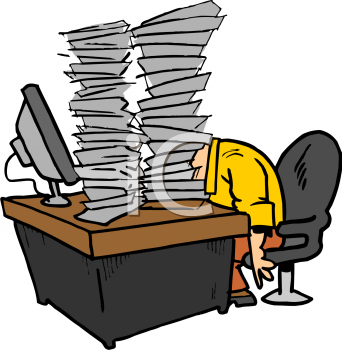 Paperwork clipart free jpg black and white download office comics images   ... Free Clipart Image: Cartoon of an Office ... jpg black and white download