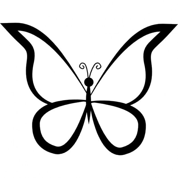 Pappillon clipart black and white cartoon outline svg free download Butterfly Clipart Outline | Free download best Butterfly Clipart ... svg free download