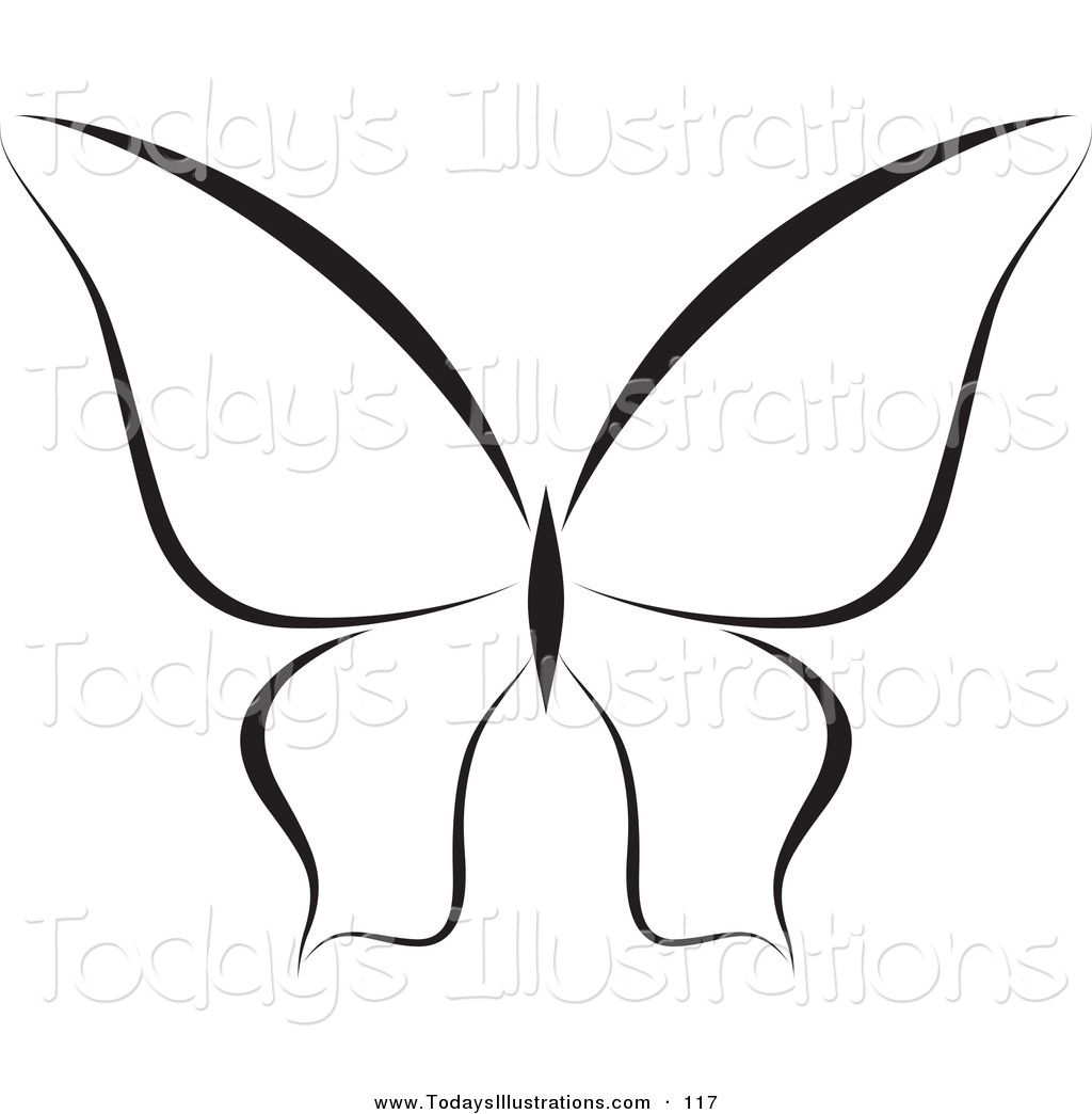 Pappillon clipart black and white cartoon outline image library download Clipart of a Black and White | Clipart Panda - Free Clipart Images ... image library download