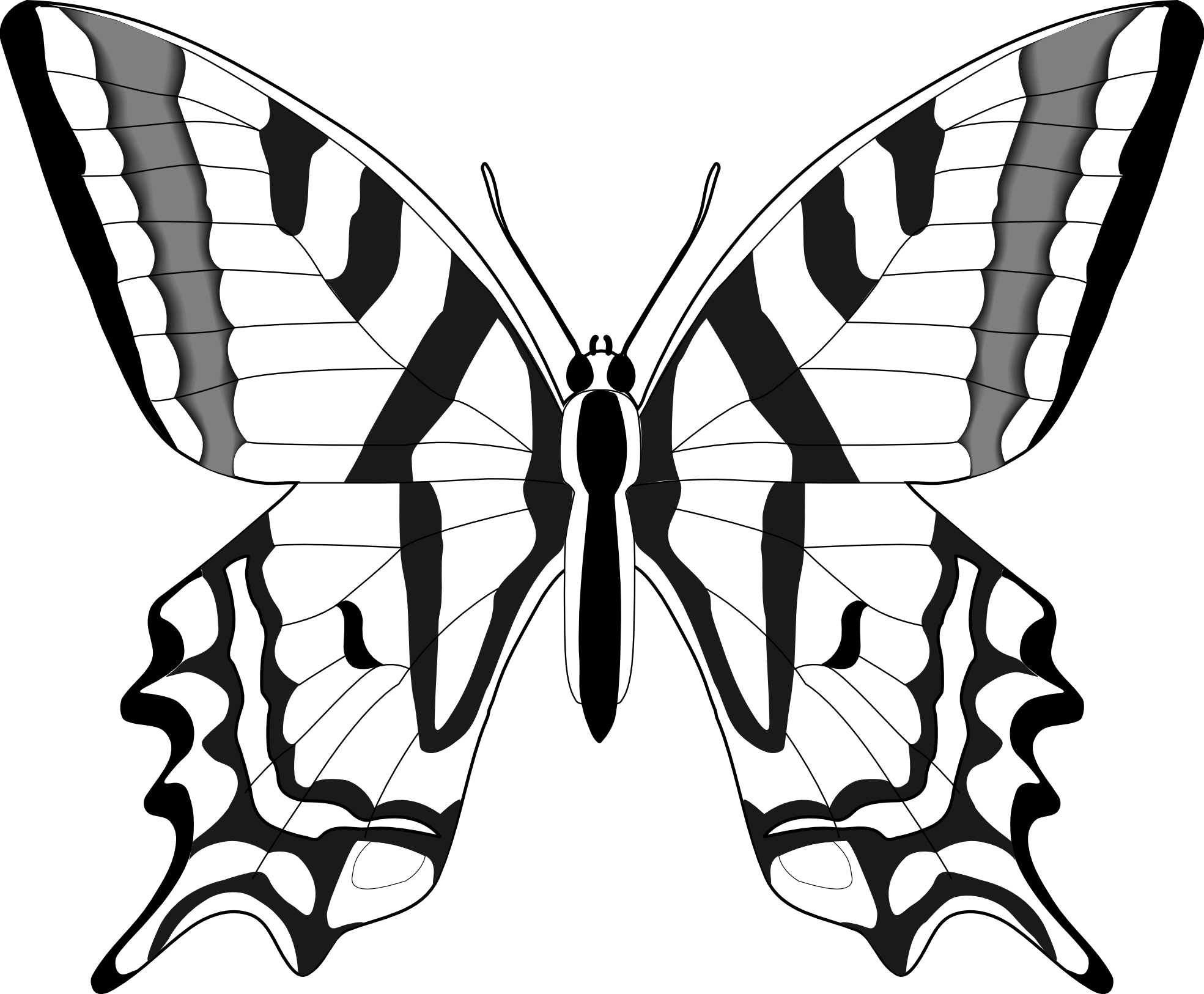 Pappillon clipart black and white cartoon outline vector library download Simple Black And White Butterfly Clipart #1 | bUtTeRfLiEs ... vector library download
