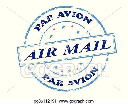 Par avion clipart image library library Vector Illustration - Air mail par avion. EPS Clipart ... image library library