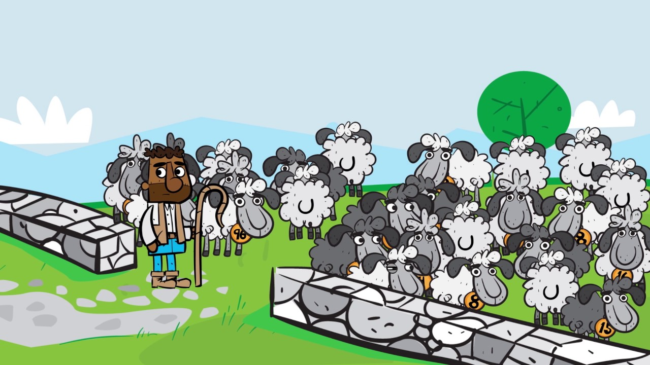Parable of the lost sheep clipart stock The Lost Sheep stock