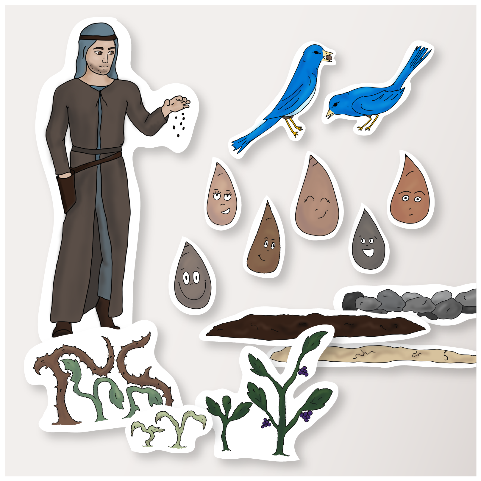 Parable of the sower clipart clipart transparent stock Parable of the Sower - NT Packet 1.6 (Download) clipart transparent stock