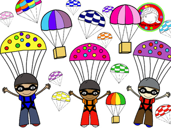 Parachute images clipart picture transparent stock Skydiving & Parachute Clipart (Personal & Commercial Use) | Digital ... picture transparent stock