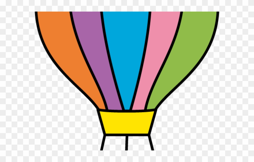 Parachute images clipart image freeuse stock Parachute Clipart - Cut Out Hot Air Balloon Template - Png Download ... image freeuse stock