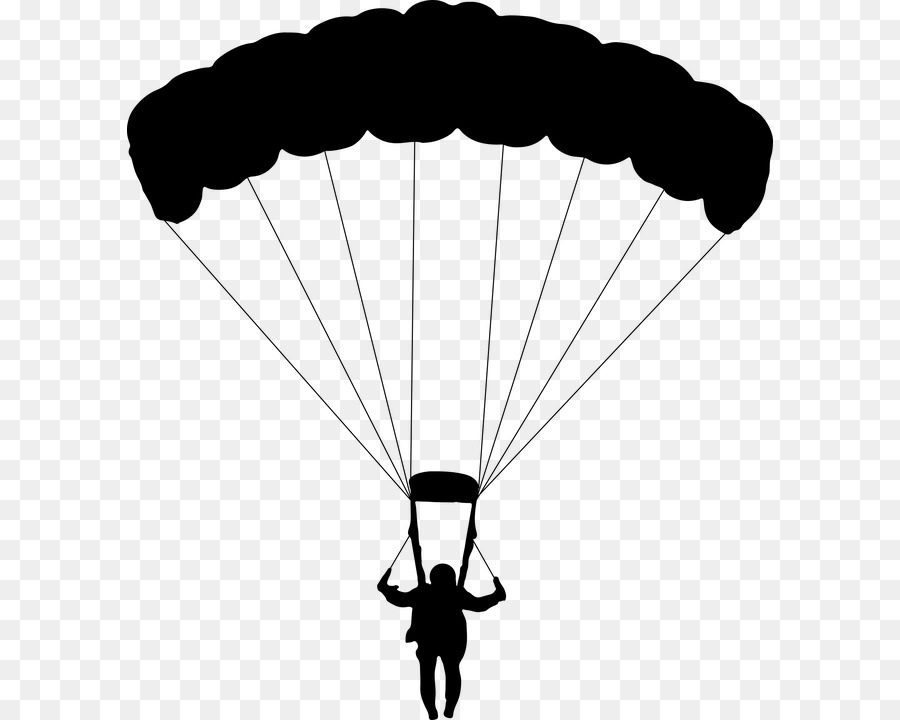 Parachuter clipart clip art freeuse library Sky Background clipart - Parachute, Line, Silhouette ... clip art freeuse library