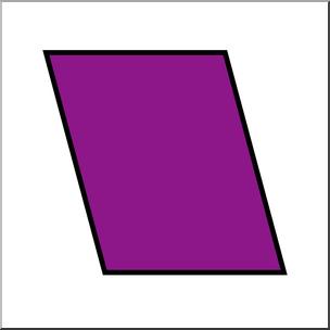 Parallelagram clipart graphic royalty free download Clip Art: Shapes: Parallelogram Color Unlabeled I abcteach ... graphic royalty free download