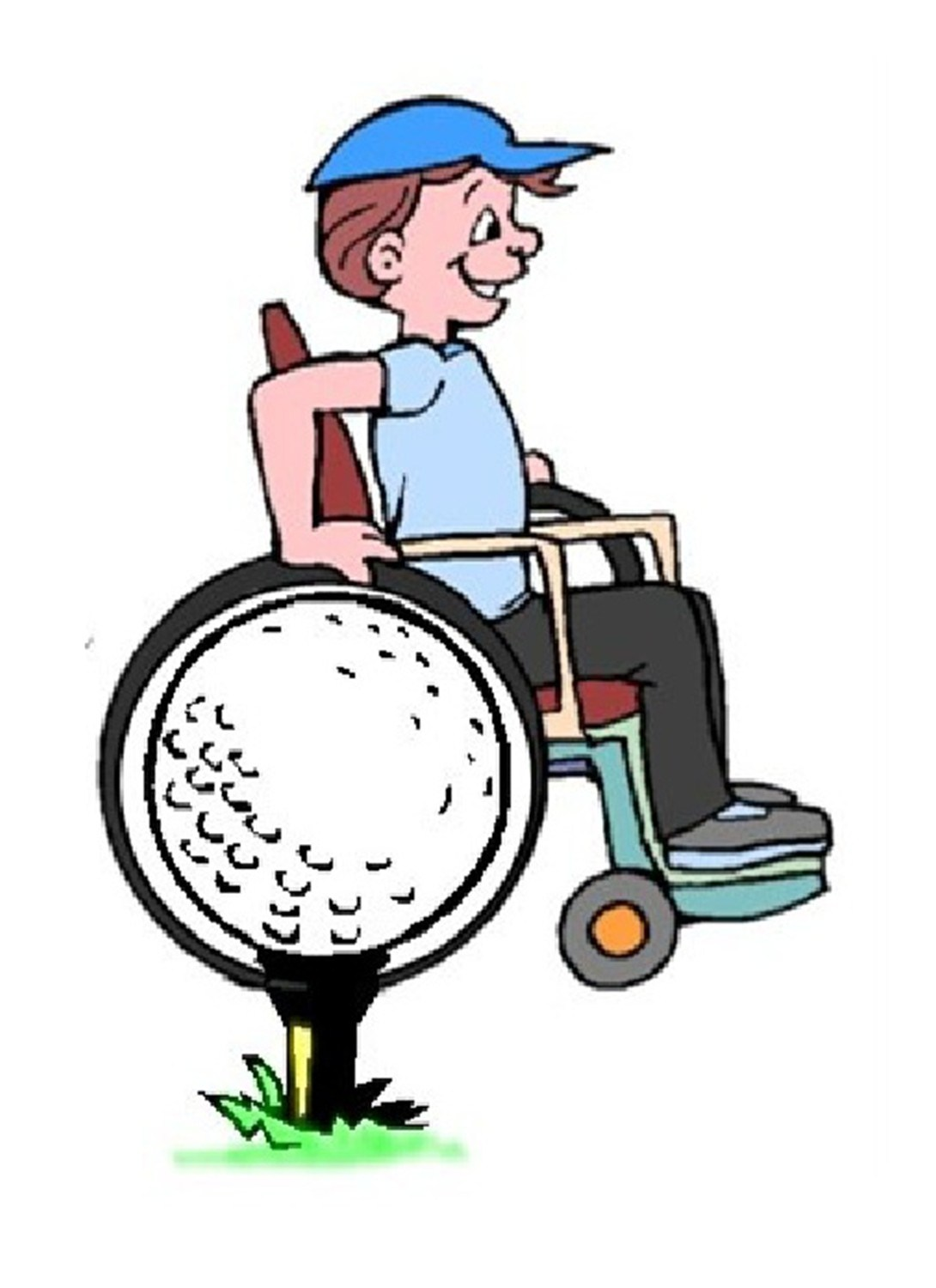 Paralyzed veterans of america clipart picture black and white stock golfguylogo-color – Paralyzed Veterans of America Great ... picture black and white stock