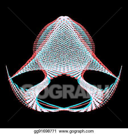 Warp wall shape clipart clipart royalty free Vector Clipart - Warped parametric surface shape. Vector ... clipart royalty free
