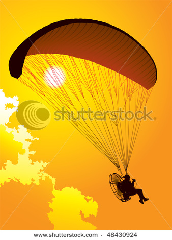 Paramotor clipart image free library Spectacular Picture of a Paraglider with a Paramotor ... image free library