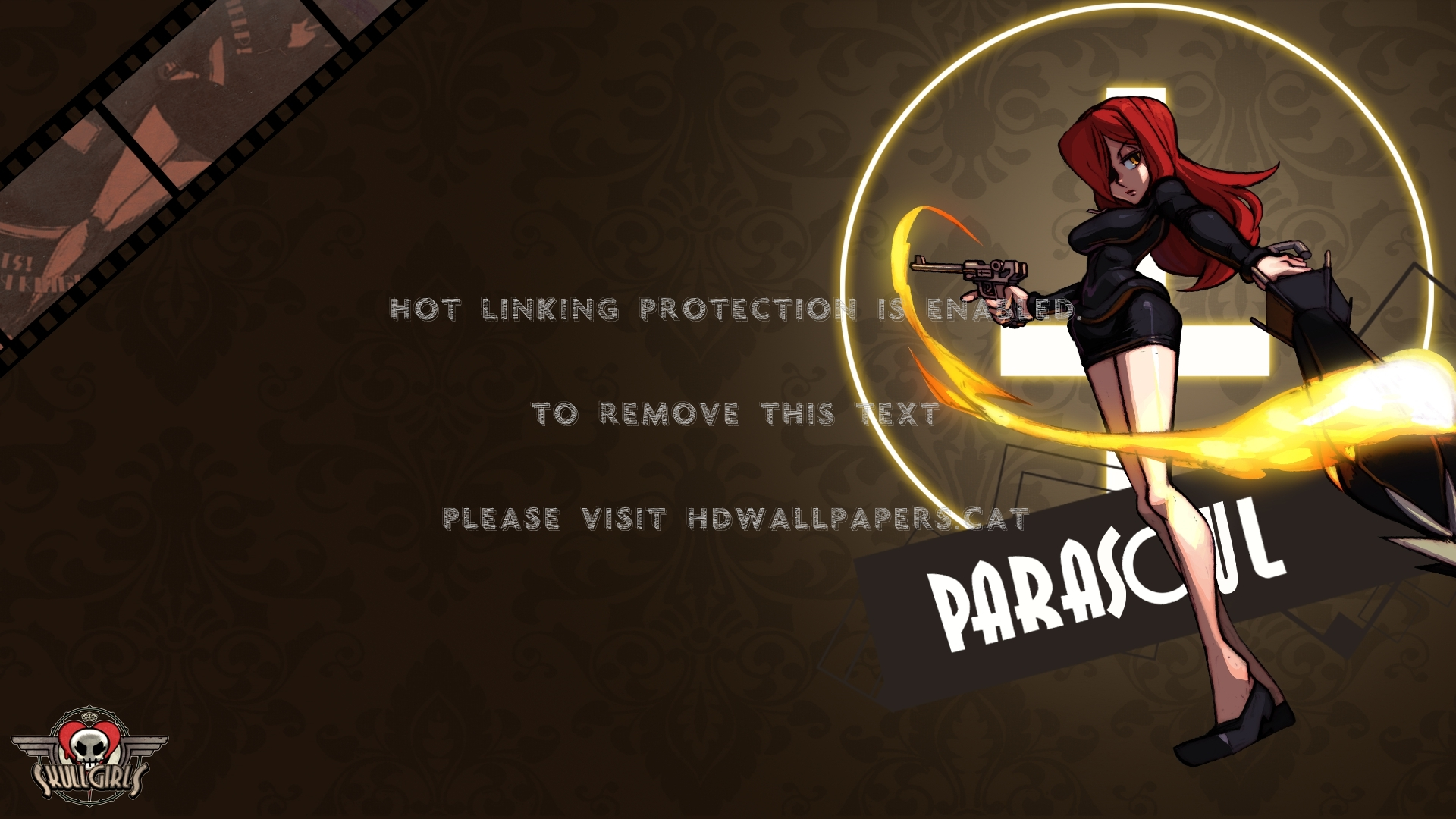 Parasoul clipart graphic black and white download Skullgirls Parasoul (#1497568) - HD Wallpaper Download graphic black and white download