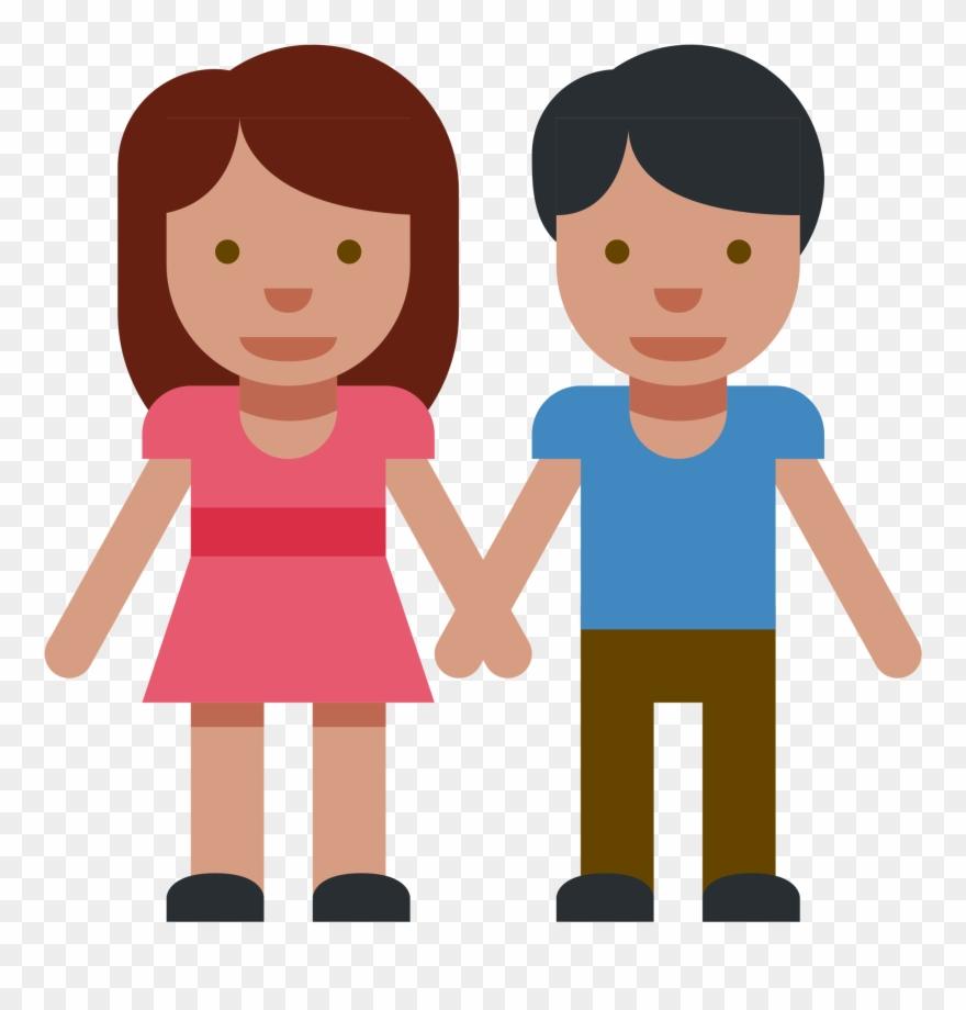 Pareja clipart svg black and white stock Cartoon Couples Holding Hands 9, Buy Clip Art - Emoji De Pareja De ... svg black and white stock