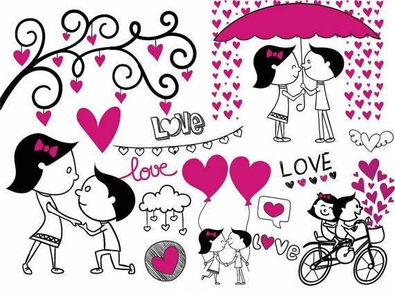 Pareja clipart jpg royalty free stock Kit Imprimible Trazos Amor De Pareja 6 Imagenes Clipart jpg royalty free stock
