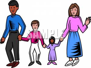 Parent child walking asian clipart car free banner free Parents Walking with Their Children - Royalty Free Clipart ... banner free