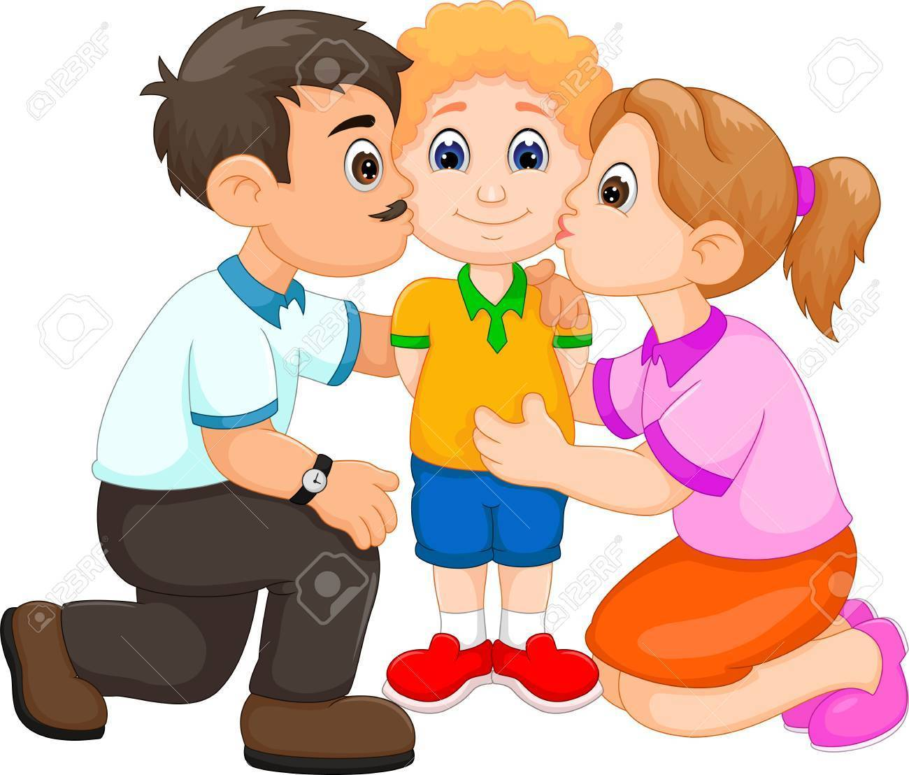 Parent clipart images vector library stock Parent hugging child clipart 8 » Clipart Portal vector library stock