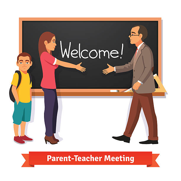 Parent teacher conference clipart bw welcome parents image library stock Parents Teacher Meeting Clipart image library stock