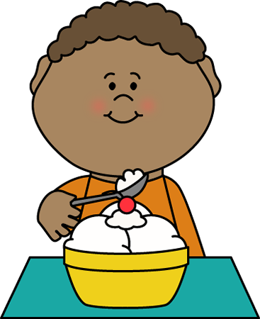 Kids eating ice cream clipart jpg black and white library Child Eating Clipart | Free download best Child Eating ... jpg black and white library