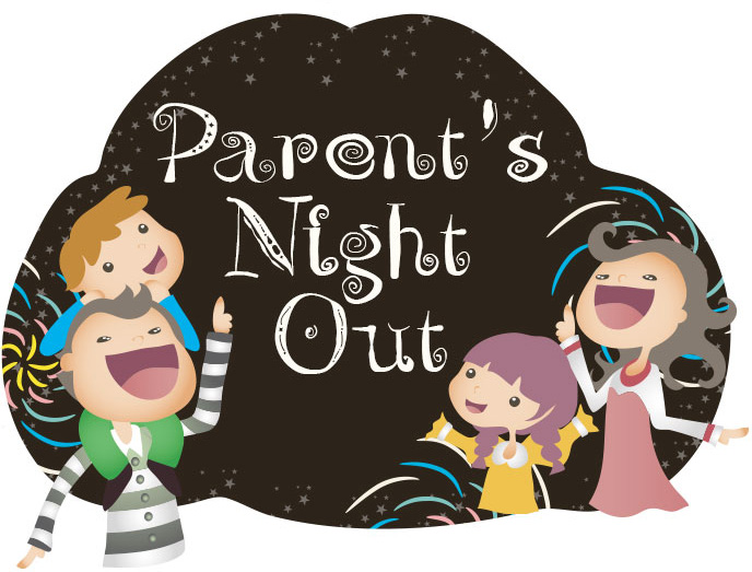 Parents night out clipart svg freeuse library Parent\'s Night Out - KC Gymnastics svg freeuse library