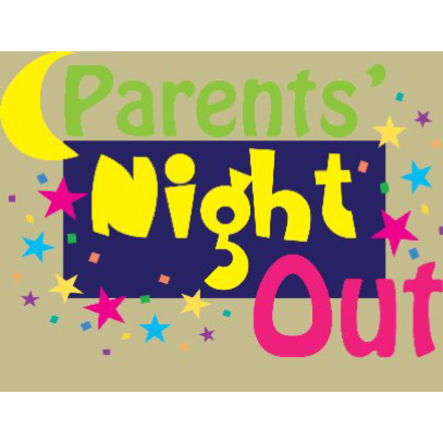 Parents night out clipart banner black and white stock Parents Night Out: Leave the Kids With Us! banner black and white stock