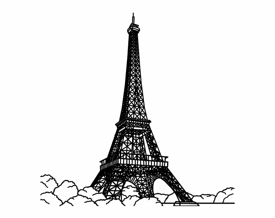 Paris black and white clipart clip library Paris Black And White Drawing   Free download best Paris Black And ... clip library