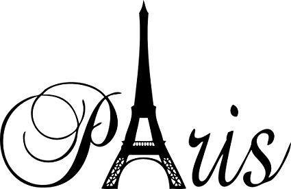 Paris black and white clipart clip library download Black 20\