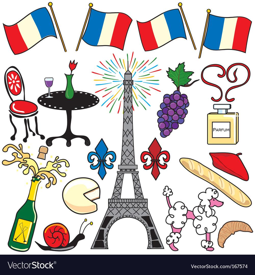 Paris vector clipart image transparent Paris france clipart elements image transparent