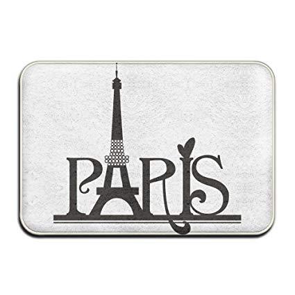 Paris clipart vector royalty free download Amazon.com : The Eiffel Tower Paris Clipart Designed Doormat ... vector royalty free download