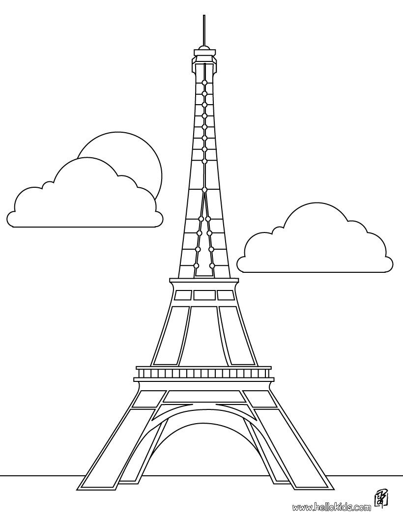 Paris france clipart coloring pre k notredame image freeuse France and French Culture Theme- Weekly Home Preschool | Color ... image freeuse