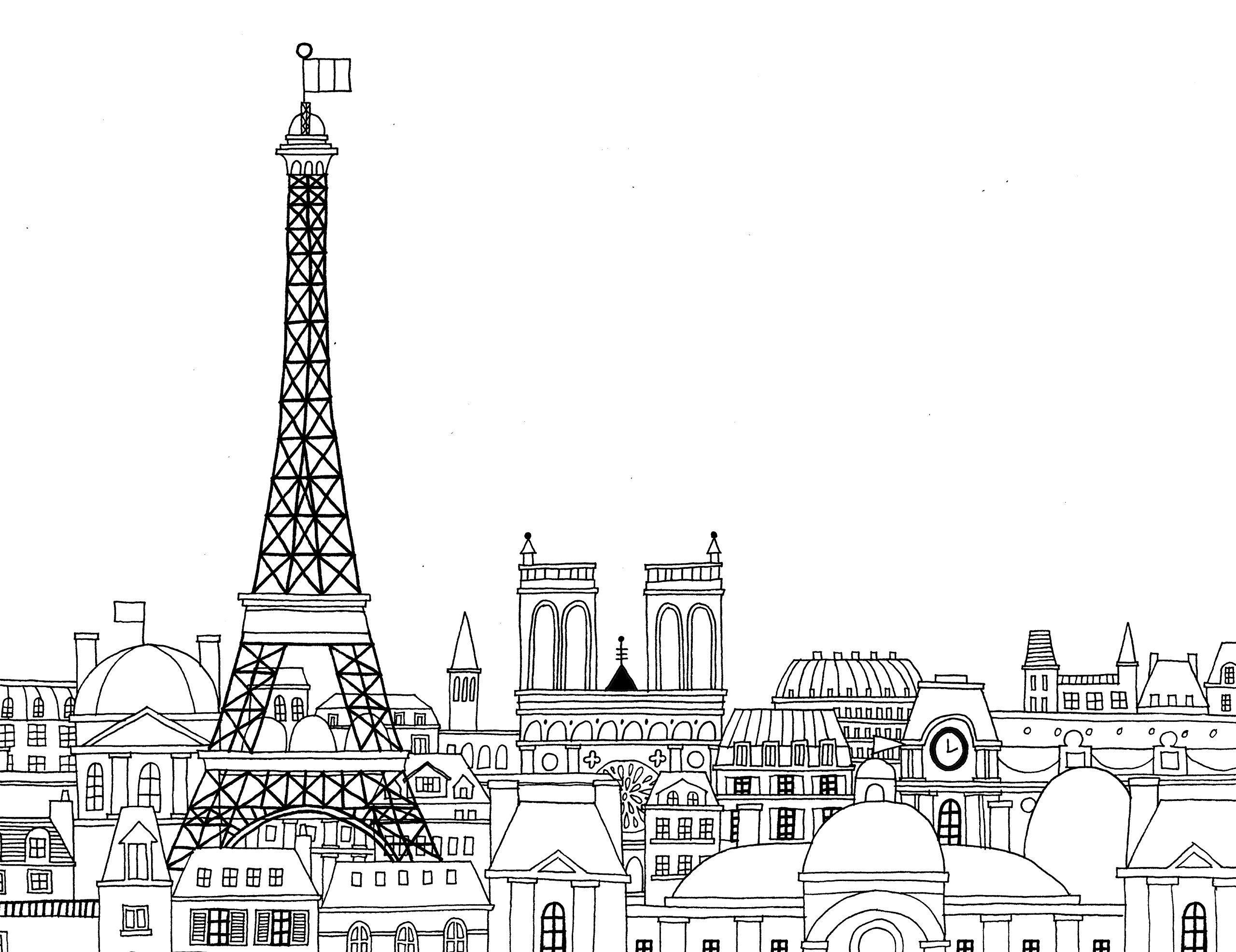 Paris france clipart coloring pre k notredame vector library download Paris Coloring Book: Min Heo, Gloria Fowler: 9781623260484: Amazon ... vector library download
