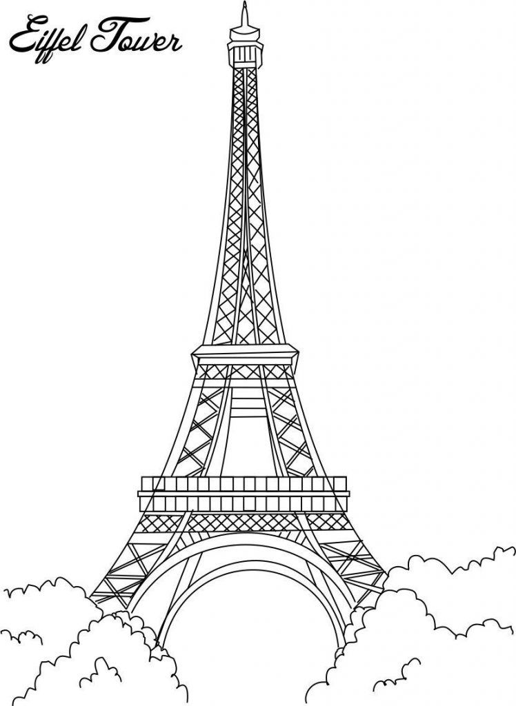 Paris france clipart coloring pre k notredame clipart free Free Printable Eiffel Tower Coloring Pages For Kids | Paris | Paris ... clipart free