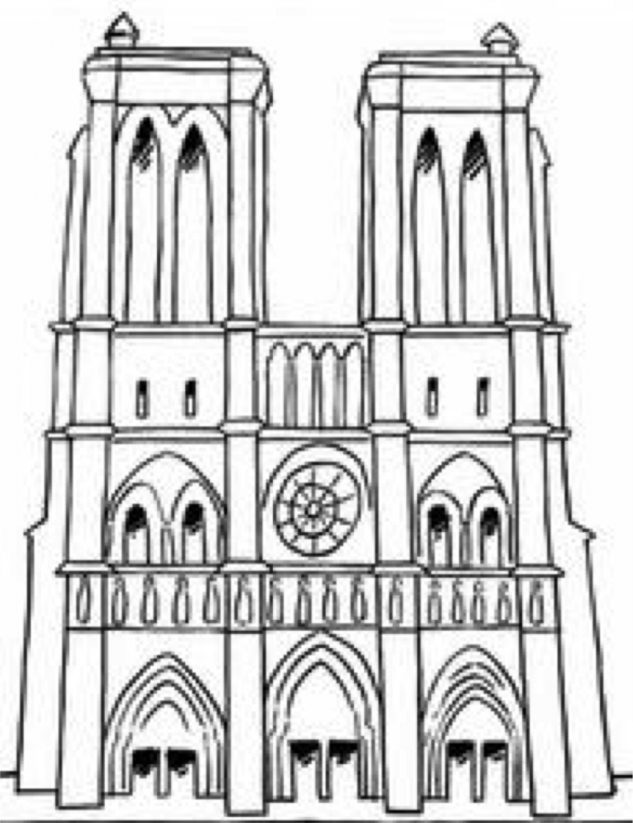 Paris france clipart coloring pre k notredame graphic library stock Adapting Geography of Paris Landmarks Worksheet | Famous churches ... graphic library stock
