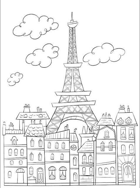 Paris france clipart coloring pre k notredame clip library stock DIY headboards | Paris...... | Adult coloring pages, Coloring pages ... clip library stock