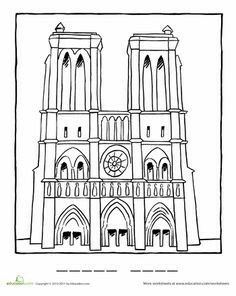 Paris france clipart coloring pre k notredame svg royalty free download 15 Best French Color Sheets images | Coloring pages, French colors ... svg royalty free download