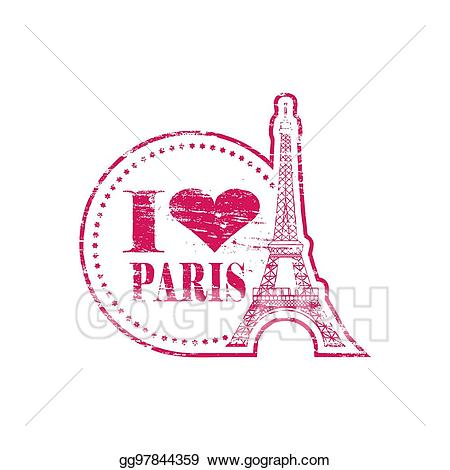 Paris stamp clipart jpg royalty free Vector Stock - I love paris stamp. Clipart Illustration gg97844359 ... jpg royalty free