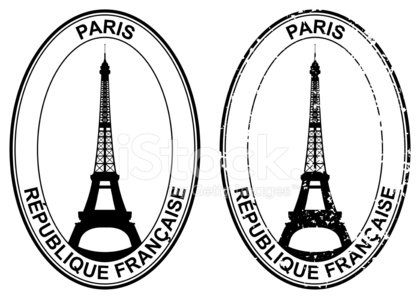 Paris stamp clipart royalty free library French Passport Stamp premium clipart - ClipartLogo.com royalty free library