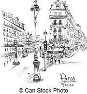 Paris street clipart image free download Paris street Clip Art Vector Graphics. 2,442 Paris street EPS ... image free download