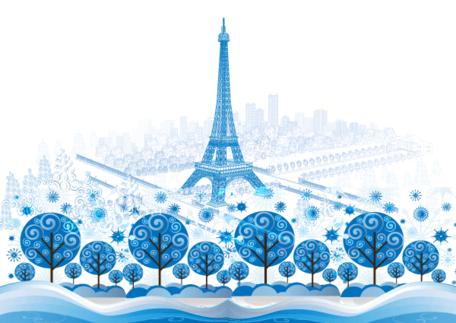 Paris vector clipart clipart royalty free download Free Blue Paris Vector Background Designs Clipart and Vector ... clipart royalty free download