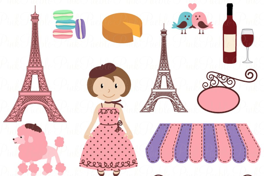 Paris vector clipart image black and white download Paris Vectors and Clipart image black and white download