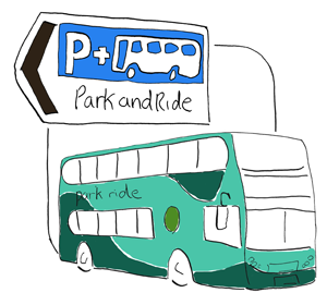 Park and ride clipart svg free library Travelling by bus in Oxfordshire | Oxfordshire County Council svg free library